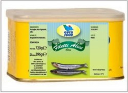 Alici a Filetti Olio  4/4 gr. 6.8